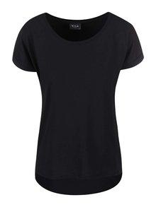 Tricou negru oversized  pentru femei VILA Dreamers