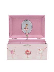 Ružová hracia šperkovnica s balerínou Cath Kidston