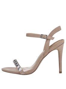 Hnědé zdobené sandálky ALDO Edilisien