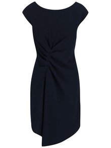 Tmavomodré šaty zriasené v páse Closet