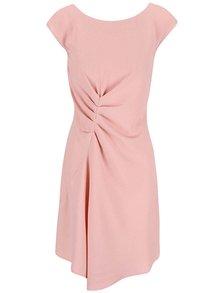 Ružové šaty zriasené v páse Closet