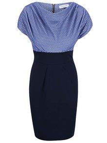 Modré šaty s bodkovaným topom Closet