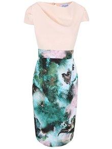 Krémové šaty s kvetinovou potlačou Closet