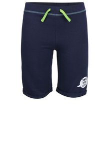 Tmavě modré dětské kraťasy se zelenou tkaničkou Blue Seven