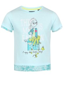 Svetlomodré dievčenské tričko s potlačou Blue Seven