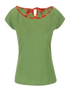 Zelený top s červeným lemem Tranquillo Grashoper