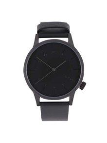 Čierne pánske hodinky s koženým remienkom Komono Winston Regal