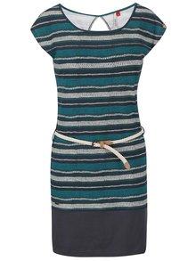 Zelené pruhované šaty s páskem Ragwear Soho Stripe