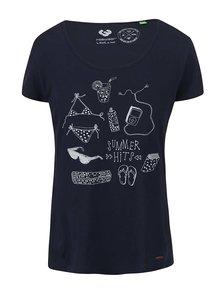 Tmavě modré dámské tričko Ragwear Sugar Organic