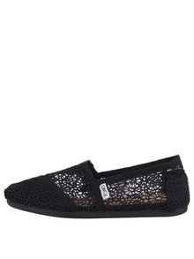 Černé dámské háčkované loafers TOMS