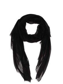 Čierna dlhá šatka Pieces Tilda
