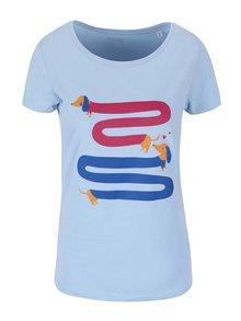 Světle modré dámské tričko ZOOT Originál Jezevčíci
