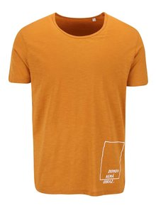 """""""Dobré"""" oranžové pánské triko pro Jeden Svět"""