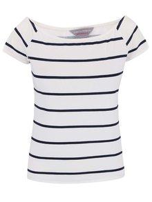 Krémové pruhované tričko s lodičkovým výstrihom Dorothy Perkins Petite