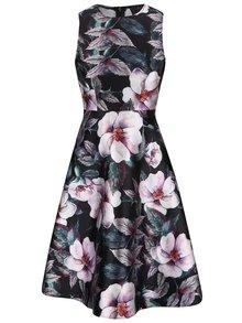 Černé šaty s květy AX Paris