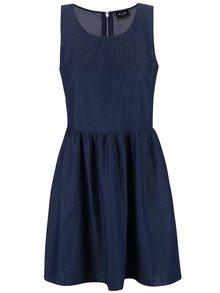 Modré džínové šaty bez rukávů VILA Sassit