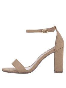 Béžové remienkové sandálky na podpätku Dorothy Perkins