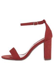 Oranžové remienkové sandálky na podpätku Dorothy Perkins