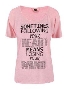 Ružové tričko s potlačou PEP Blow