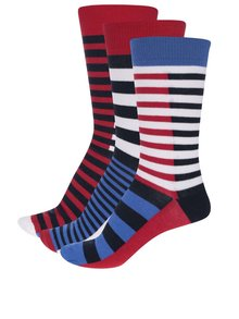 Sada tří pánských pruhovaných ponožek Oddsocks Luke