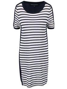 Bielo-modré pruhované šaty French Connection Cass