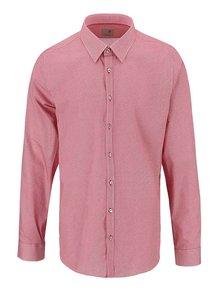 Červená košile s drobným vzorem Seidensticker Modern Kent Slim Fit