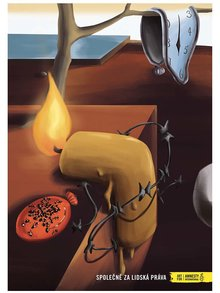 """""""Dobrý"""" plagát Dalí pre Amnesty International"""