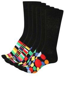 Sada šesti pánských ponožek v černé barvě Oddsocks Soso