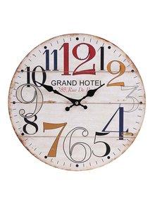Krémové dřevěné hodiny Dakls Grand Hotel