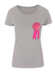 Tricou ZOOT Original Shopaholic gri pentru femei