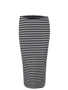 Čiernosivá pruhovaná sukňa ONLY Abbie