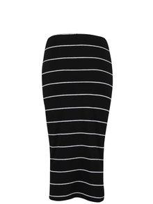 Čierna pruhovaná dlhšia sukňa ONLY Abbie