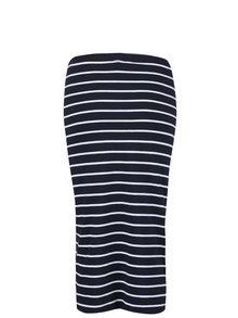 Tmavomodrá pruhovaná dlhšia sukňa ONLY Abbie