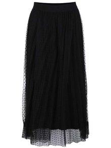 Černá sukně s tečkovaným vzorem Alchymi Danburite