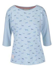 Světle modré tričko s 3/4 rukávy Brakeburn Sausage Dog