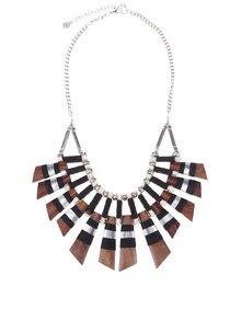 Výrazný náhrdelník v striebornej farbe Pieces Nulia