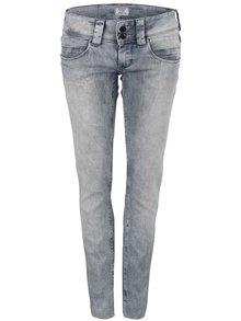 Sivé dámske rifle s nízkym pásom Pepe Jeans Venus