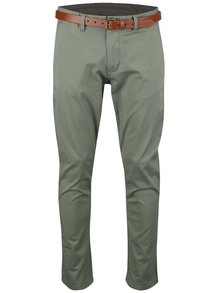 Pantaloni chino kaki Selected Homme Yard slim fit