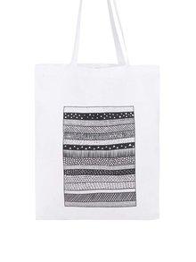 Biela taška s čiernym vzorom ZOOT Originál Pattern