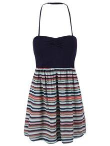 Tmavě modré pruhované šaty Roxy Sleep To Dream