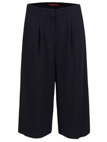 Tmavomodré dámske culotte nohavice s.Oliver