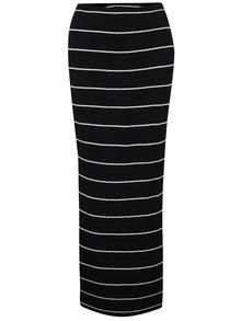 Černo-šedá pruhovaná maxi sukně s rozparky ONLY Abbie