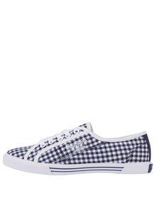 Bielo-modré dámske kockované tenisky Pepe Jeans
