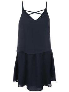 Tmavě modré šaty na ramínka VILA Sora