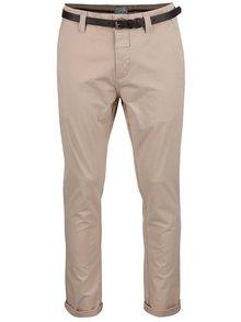 Béžové nohavice s opaskom Dstrezzed