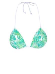 Bílo-zelený horní díl plavek Pieces Tahitti
