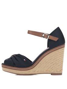 Tmavomodré dámske topánky na platforme Tommy Hilfiger