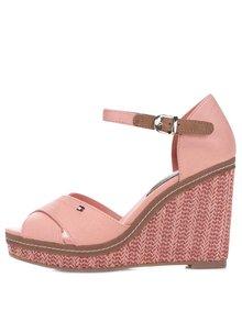 Lososové dámske bavlnené topánky na platforme Tommy Hilfiger
