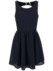 Modré čipkované šaty ONLY Line Fairy