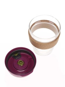 Dizajnový cestovný sklenený hrnček KeepCup Brew Cinnamon Cork Medium